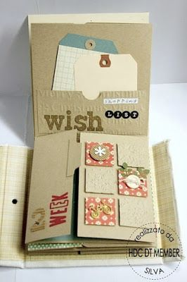 "Mini ""Decembre hebdomadaire"" et son tuto : http://hobby-di-carta.blogspot.de/2012/12/mini-album-december-weekly-by-silva.html"