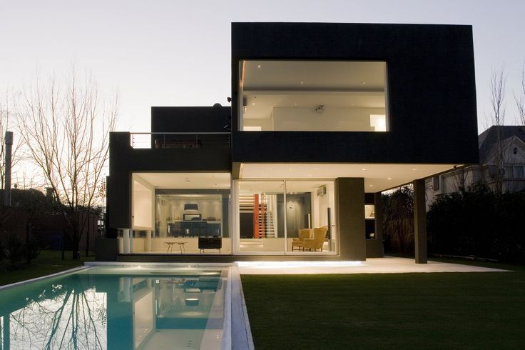 Pool in the Black House in Buenos Aires, Argentina...