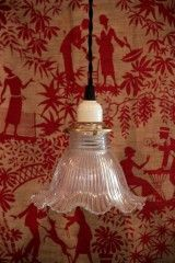 1000 ideas about abat jour en verre on pinterest lighting enamel and balneo - Ancien lustre suspension ...