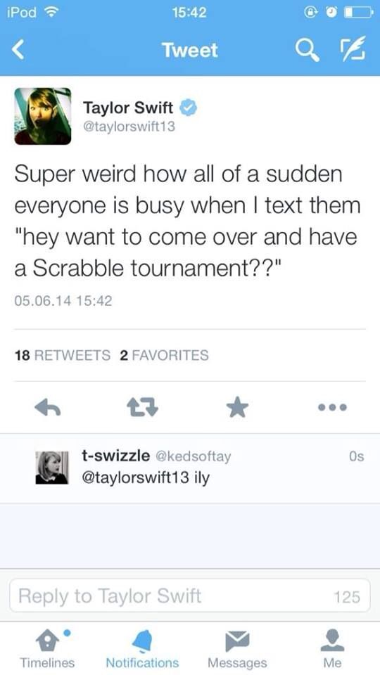 Haha she's perfect!!! And I would sooooo do that with her! I lover her, and I love Scrabble!