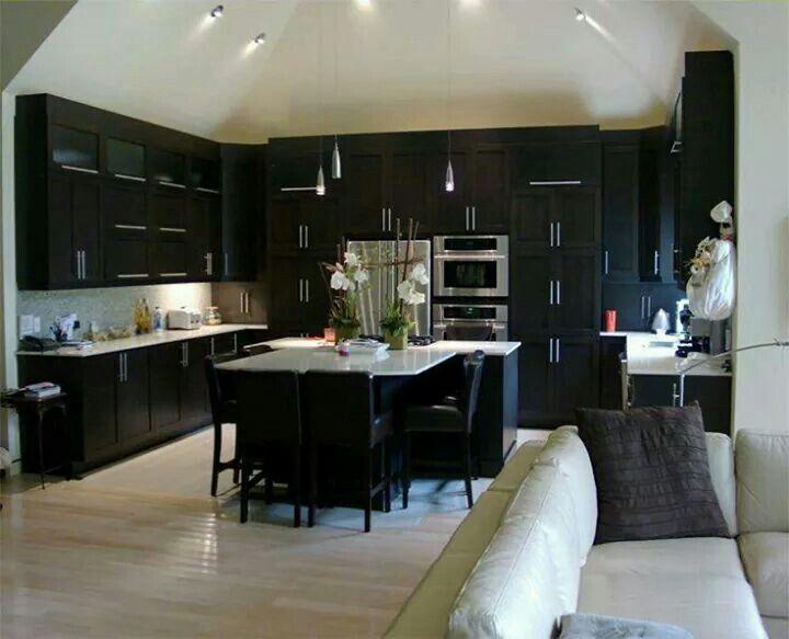 Kitchen Ideas Dark Wood Cabinets 39 best home improvement ideas images on pinterest | home, kitchen