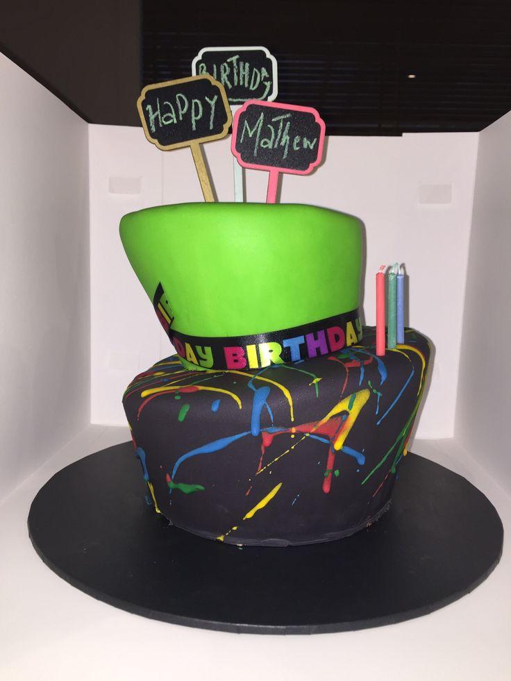Tipsy Turvy Splatter Cake.
