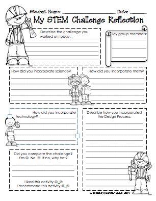 FREE STEM LAB REFLECTION PRINTABLES - TeachersPayTeachers.com | STEM ...