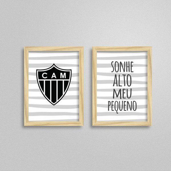 Kit De Quadros Quarto De Bebe Atletico Mineiro Quadros Para Quarto Quarto Bebe Quadros Quarto Bebe