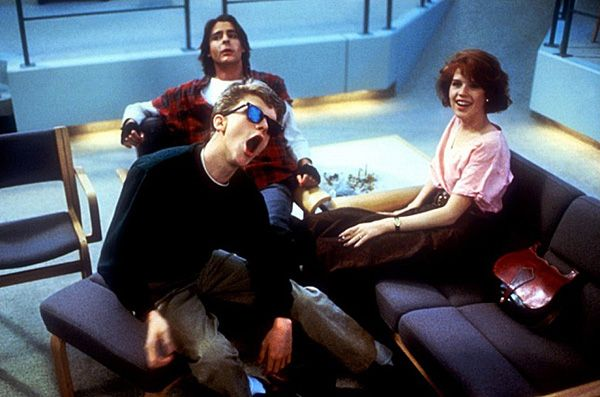 maddynorris:  The scene in which all the characters sit in a circle on the floor in the library and tell stories about why they were in detention was not scripted. John Hughes told them all to ad-lib. The Breakfast Club (1985)