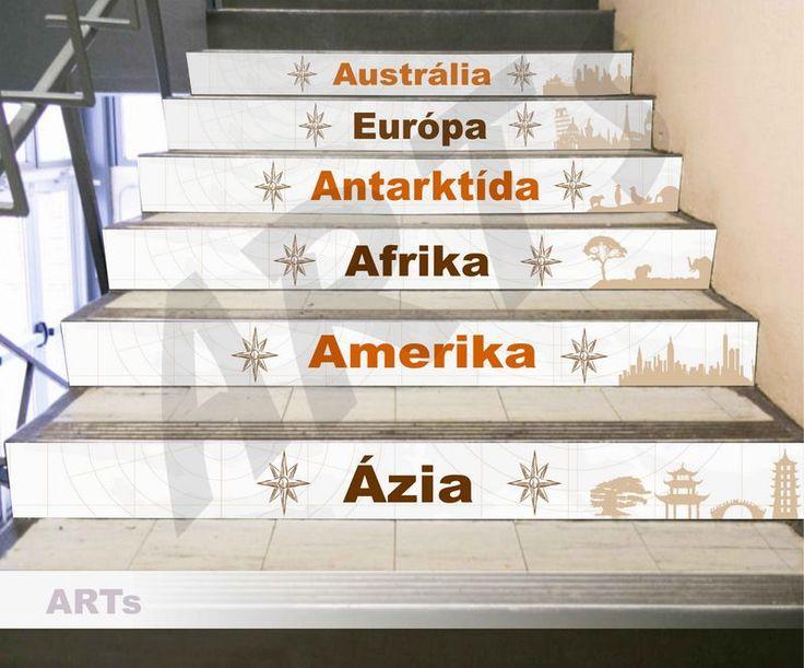 (3604f) #Nálepka na schody - #Svetadiely #artsablony