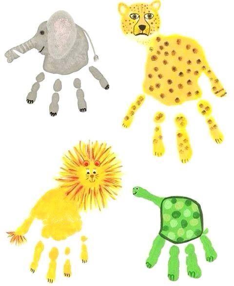 Empreintes main animaux