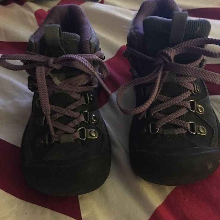 Keen Kids Hiking Boots Purple and Gray Size 10 | eBay