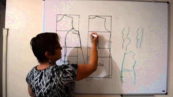 Corrigindo molde de vestido e blusa para vários tipos de corpo - Aula 34