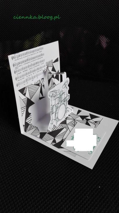 kartka dla muzyka, perkusisty