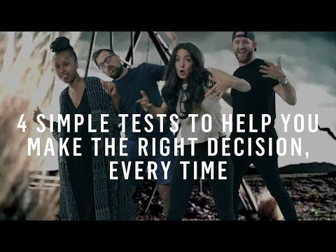 Decision Making: 4 Simple Tests To Help You Make The Right Decision - YouTube