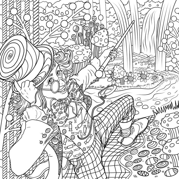 Roald Dahl - Free Colouring Pages