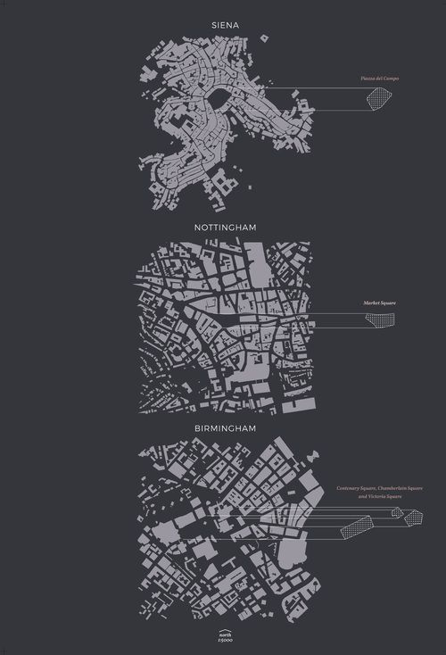 Figure ground comparison - public squares … More