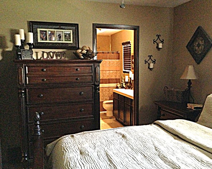 Tall Dresser With Decor #MasterBedRoom