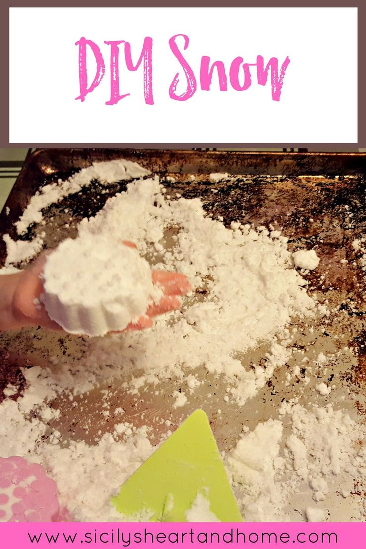 DIY Snow | Snow is such a wonderful sensory experience, but sometimes our kids don't feel like getting cold and wet. Make this DIY snow to enjoy the snow all year long.