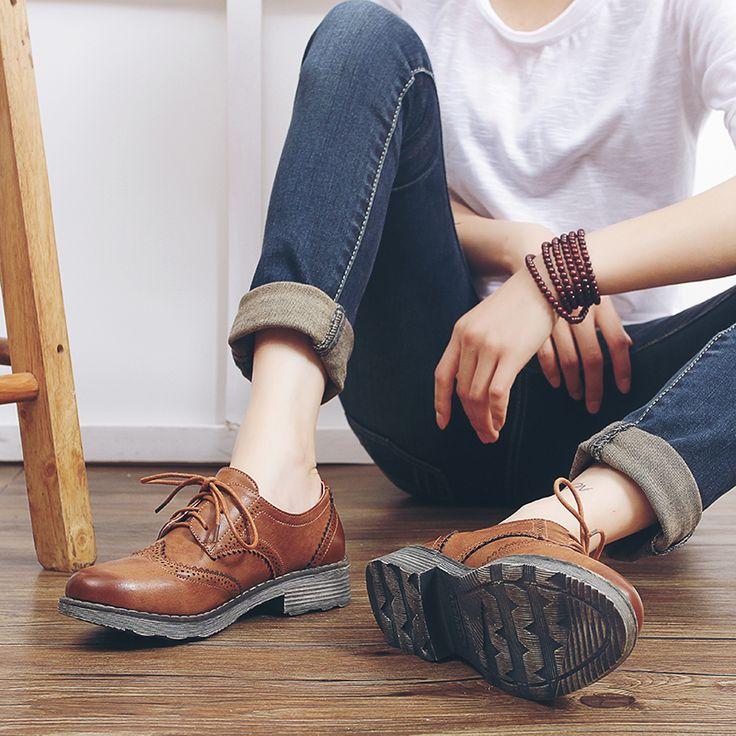 Плоские оксфорд туфли для женщин квартир 2016 мода акцентом оксфорд женская обувь мокасины sapatos femininos sapatilhas zapatos mujerкупить в магазине Krystal's shoes наAliExpress