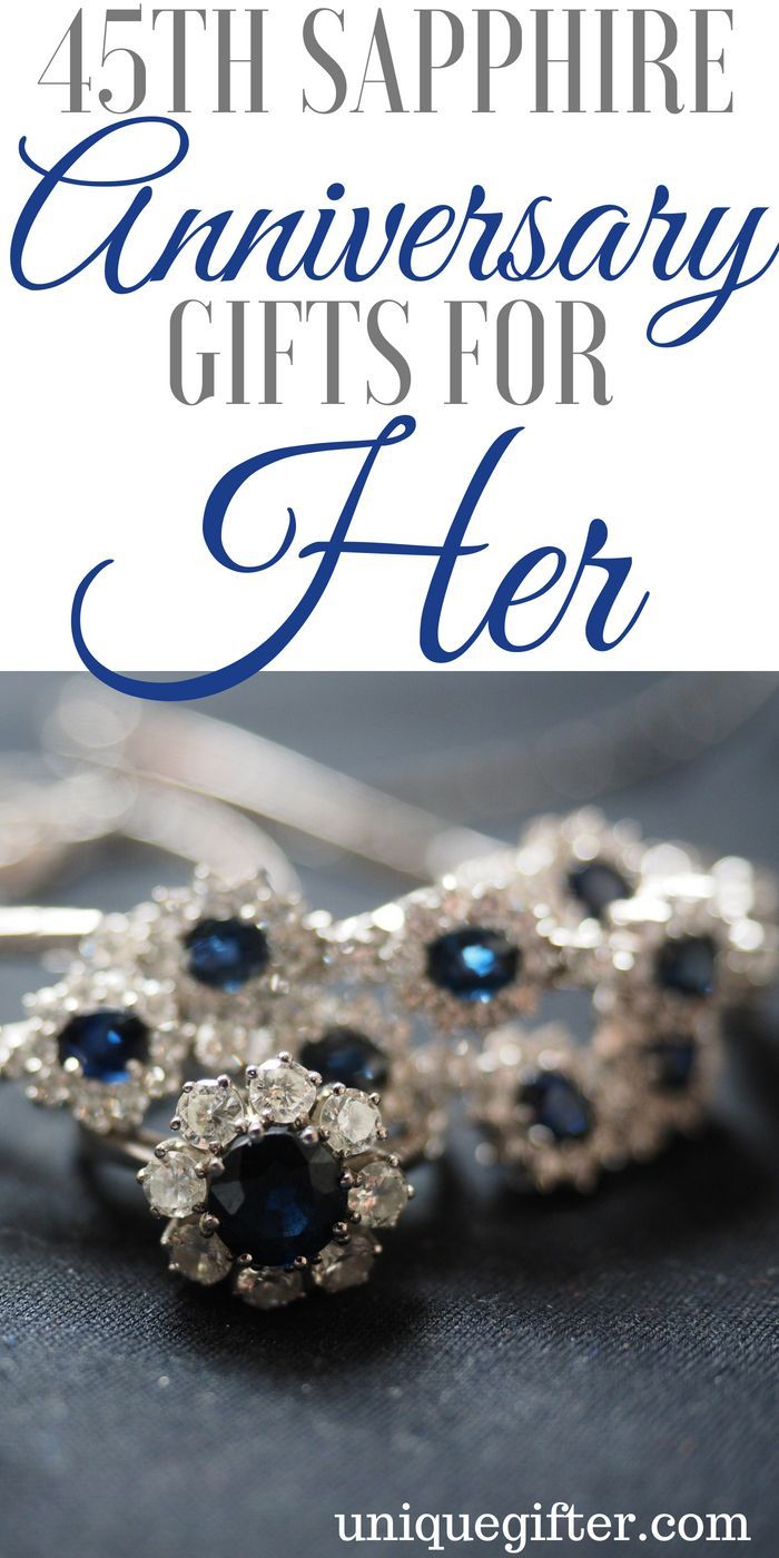 45th Sapphire Anniversary Gifts for Her 45th wedding