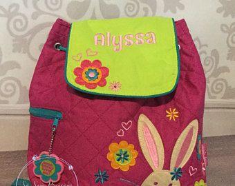 Stephen Joseph Backpack, School, Nursery Bag, Personalised, Embroidered, Bunny Rabbit, Girl, Personalized school bag