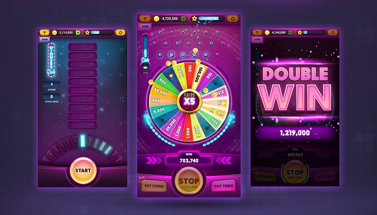 Wheel Of Coins Game on Behance