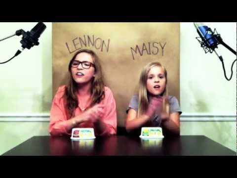 adorable girls.     'Call Your Girlfriend' Robyn/ Erato cover by Lennon & Maisy Stella