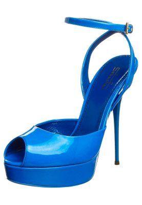 Højhælede sandaletter / Højhælede sandaler - blå