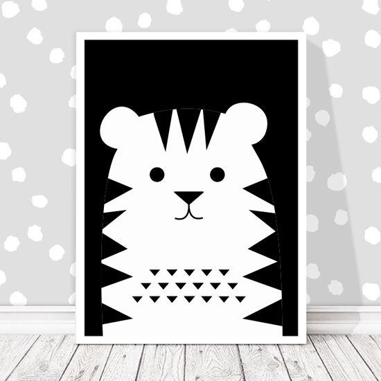 Αφίσα με τίγρη. Τα ζωάκια ξετρελαίνουν τους μικρούς μας φίλους! #postersforkids #paidikesafises #littletiger #socute