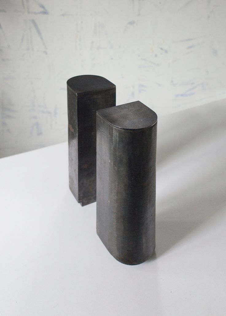 Urns in steel for a couple, designed by Camilla Wedelboe Monsrud 2016  Danish design