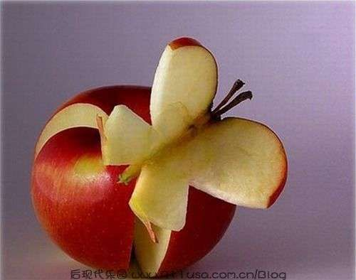 Food Art - Apple Butterfly  | CostMad do not sell this idea/product but please visit our blog for more funky ideas