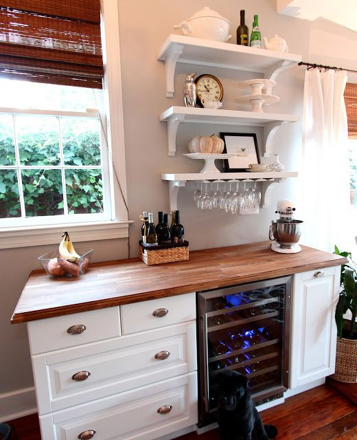 these ikea kitchen hacks will change your life forever cabinets bar and butcher block counters. Black Bedroom Furniture Sets. Home Design Ideas