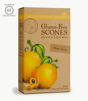 I just made these and they turned out great! :: Meyer Lemon Gluten Free Scone Mix ~ Sticky Fingers Bakeries