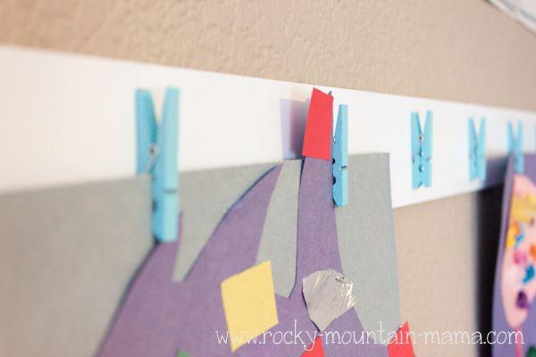 DIY Artwork Display - Rocky Mountain Mama