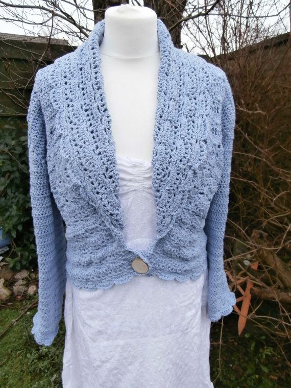 Eco-friendly Cardigan  Recycled Cotton UK size by StrangelyMagical
