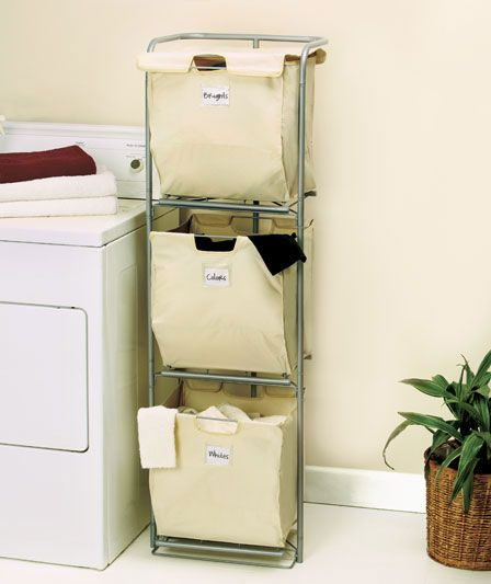 Space saver and functional love it 3 tier laundry hamper 20 could also be used as a sorting of - Laundry hampers for small spaces plan ...