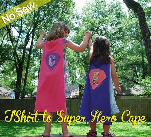 T-shirt Super Hero Cape Tutorial: No Sew