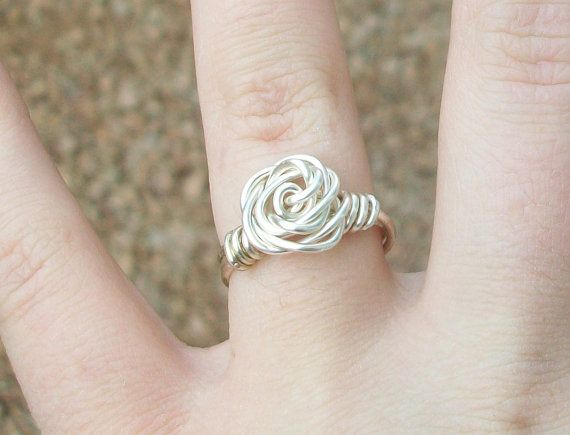 Wire Rose Rings  Custom Size and Color by jelysm93 on Etsy, $7.007 00, Custom Size, At Home, Etsy, Rings Custom, Colors, Wire Rose, Accessories, Rose Rings