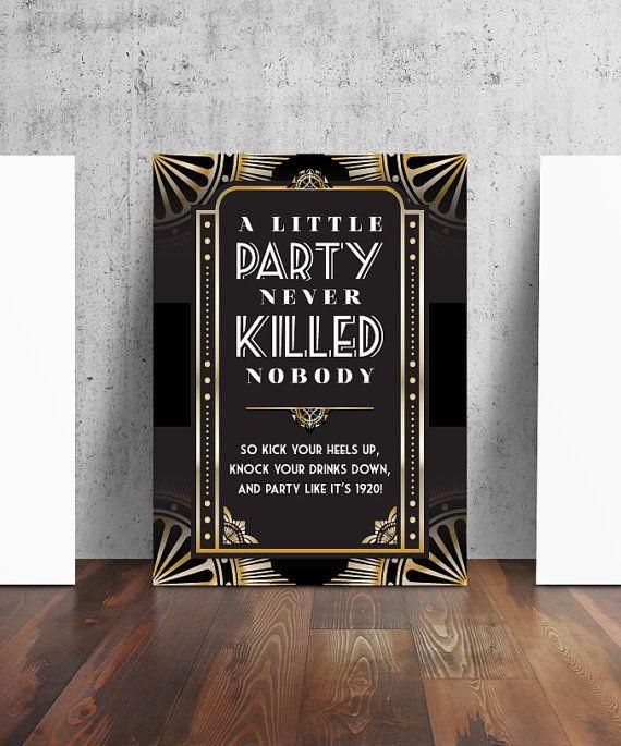 20er Jahre Style Party Verbotszeichen von TheContraryCaptain                                                                                                                                                                                 Mehr