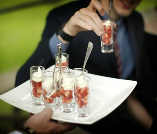 Strawberries  cream for pre-wedding afternoon tea