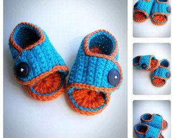 Uncinetto bambino ragazza sandali scarpe estive di DolcelinaShop