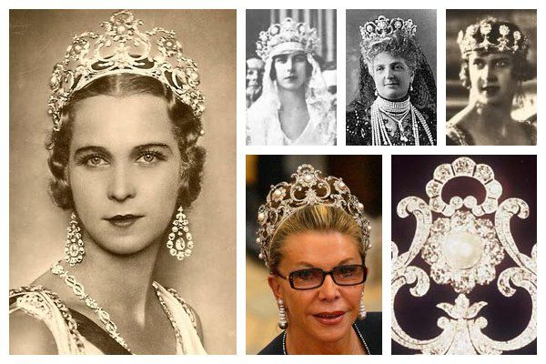 The Queen Margherita Musy Tiara. Made in 1904 by Musy for Queen Margherita of Italy, this versatile diamond and pearl tiara was commissioned in celebration of the birth of the future King Umberto III, Margherita's grandson. Margherita's daughter-in-law, Queen Marie José, received the tiara after her death; today it is worn by Princess Marina of Savoy.