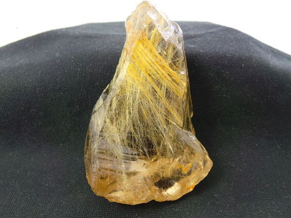 Exquisite Pretty Natural Rare Golden Rutile Rough by StarGemBeads