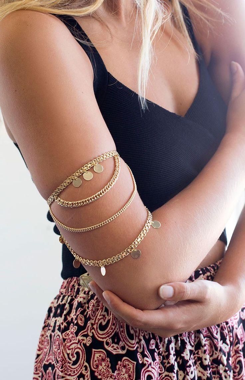 Minc Collections Treasure Gold Arm Chain #BBFEST #beginningboutique