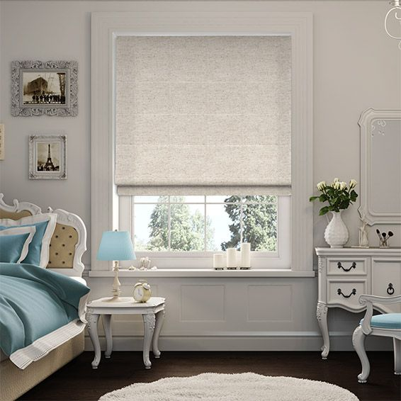 Linen Natural Roman Blind from Blinds 2go