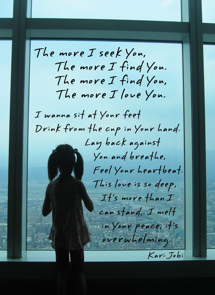 The More I Seek You  by Kari Jobe  (sang this song in church today)