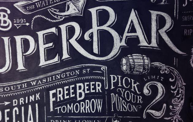 Superbar #chalk #hand #lettering