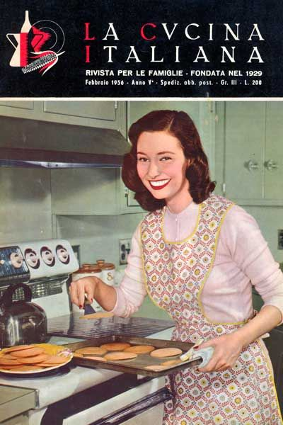 """La Cucina Italiana"" magazine cover - February 1956"