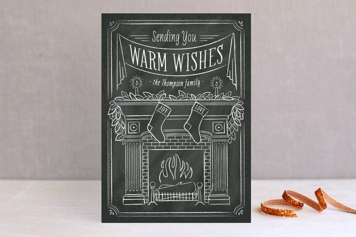 By the Fire holiday cards by Ann Gardner | minted.com