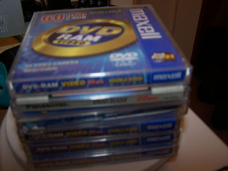 SIX 60 MINUTE DOUBLE SIDED DVD VIDEO DISKS