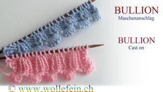 Shell Cast On - Muschelanschlag stricken Knitting Video with Wollefein. Shell edging knitted