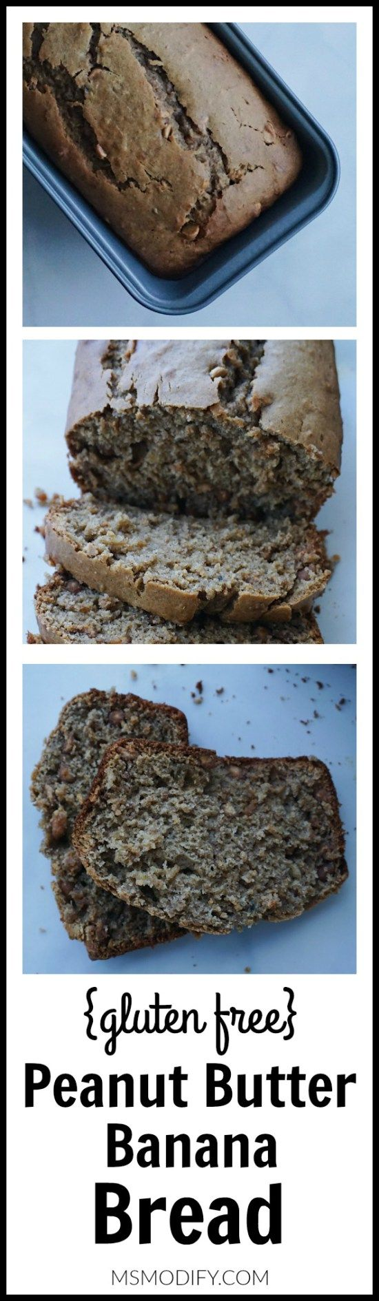 This quick and easy gluten free bread made with creamy peanut butter mixed with ripe bananas is sure to be a big hit with the entire family!