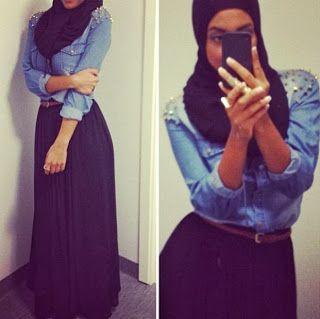 fashion, maxi skirt, hijab style